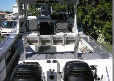 Interior custom retrim of boat