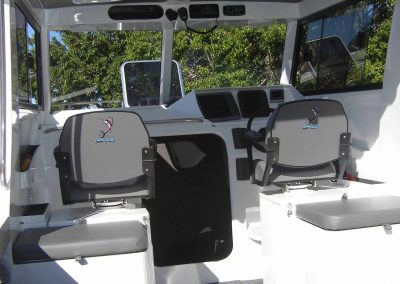 Grey and white boat interior retrim by CoastalAU