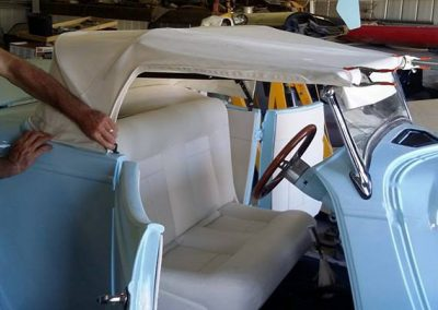 34 Roadster white leather look vinyl Caloundra