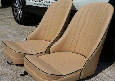 Bently-bucket-seats-retrim-coastal-auto-upholstery