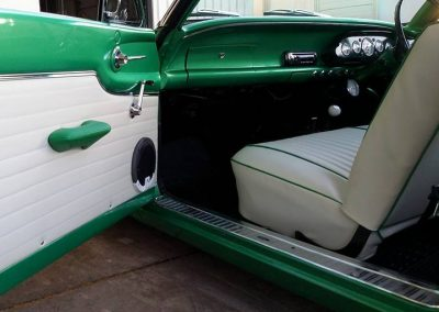 XP Falcon Coupe in off white vinyl with green door full retrim