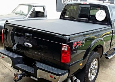 Black F250 XLT extra cab ute clip on tonneau Sunshine Coast