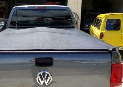 Clip on tonneau VW Amarok dual cab ute upholstery