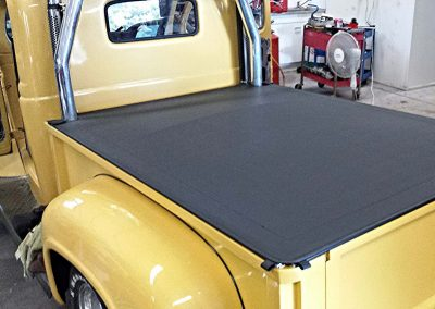 Yellow Dodge ute stepside clip on tonneau